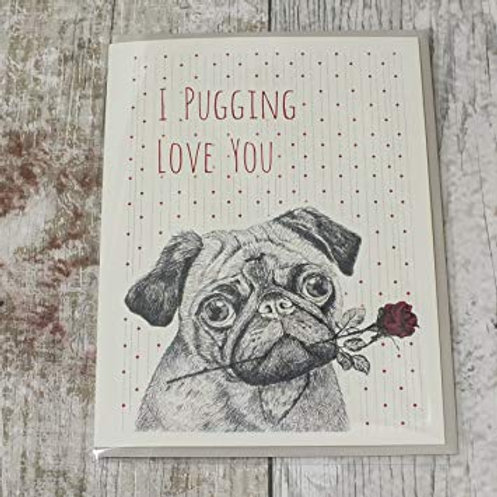 I Pugging love you East of India Card