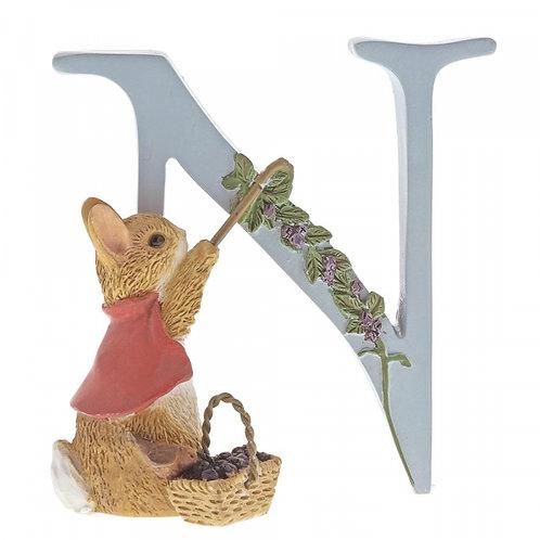 Beatrix Potter Ceramic Letters - Letter N