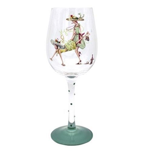 Crazy Friends Wine Glass