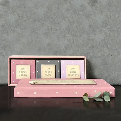 East of India Baby Triple Box Set - Pink