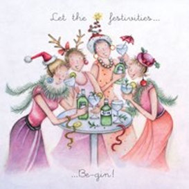 Berni Parker Let the festivities Be-gin Card