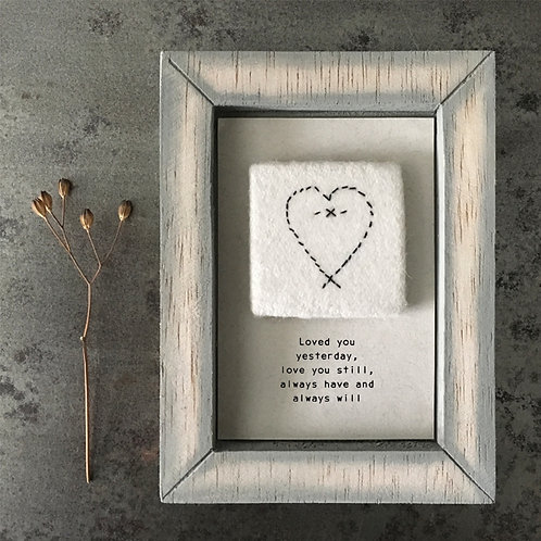 East of India Embroidered Picture - Loved you yesterday
