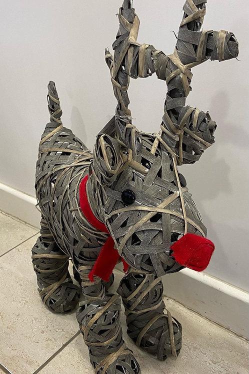 Grey Willow Free Standing Reindeer