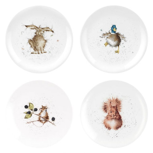 Wrendale Royal Worcester 8 inch Coupe Plates