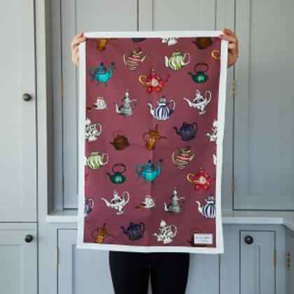 Katie Cardew Teapots Tea Towel