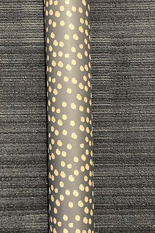 East of India Black with Beige Spot Gift Wrap