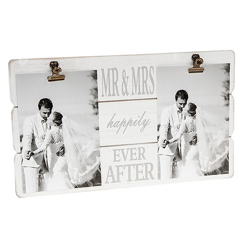 'Mr and Mrs' Double Clip Frame