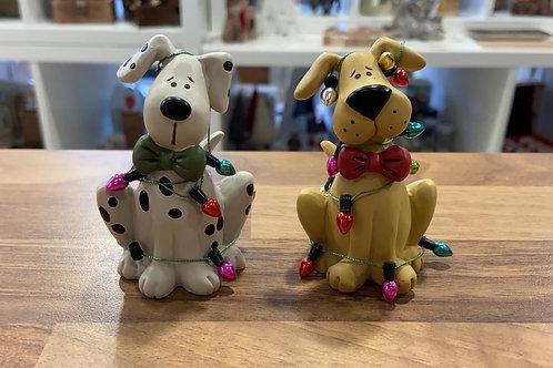 Set of 2 Christmas Dogs