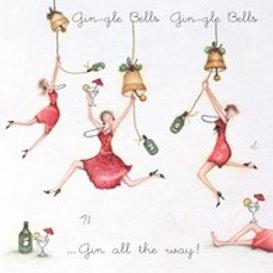 Berni Parker Gin-gle Bells Card