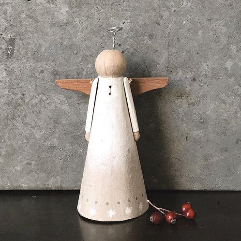 East of India Paper Mache Angel tree topper