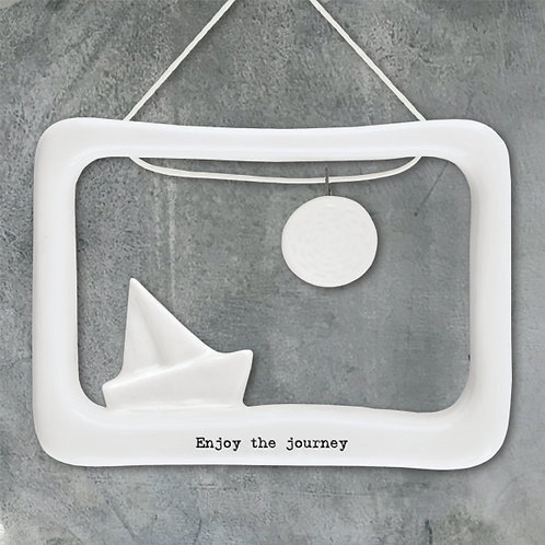 East of India Porcelain Open Frame - Enjoy the journey
