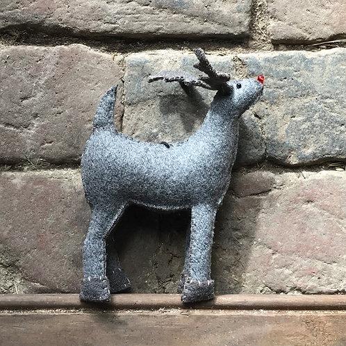 East of India Felt Hanging Reindeer