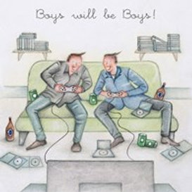 Boys will be boys! Berni Parker Card