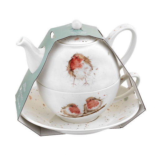 Royal Worcester Wrendale Designs Tea For One With Saucer (Robins)