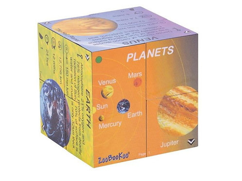 Planets Solar System Cube Book