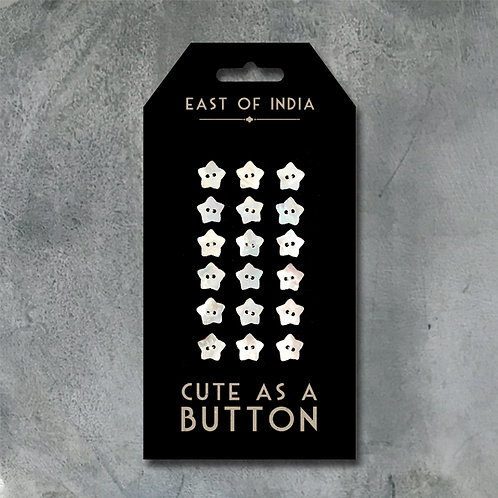 East of India Cute as a button - Star (18 Buttons)