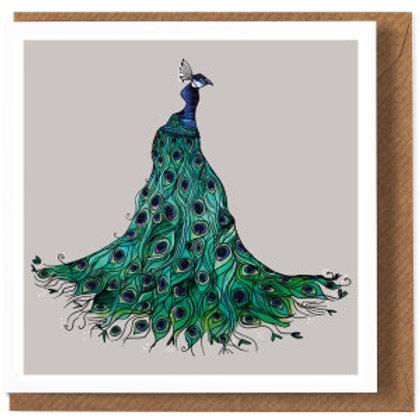 Katie Cardew Peacock Card