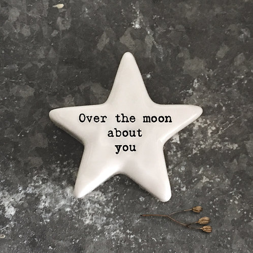 East of India Star Token - Over the moon about you