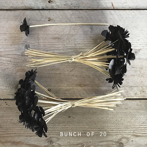 East of India Bunch of Flowers - Black