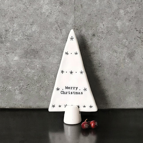 East of India Standing Porcelain Tree - Merry Christmas