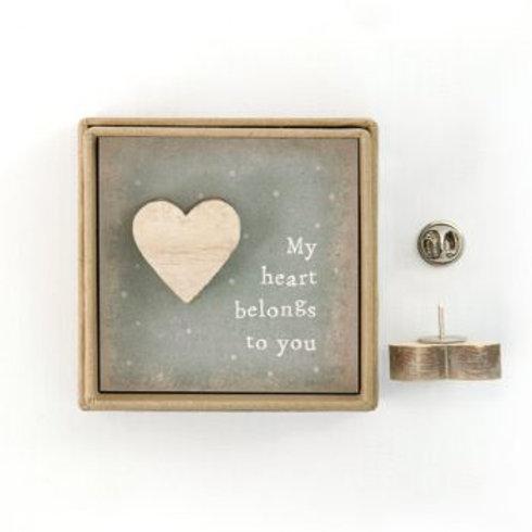 My heart belongs to you Lapel Pin