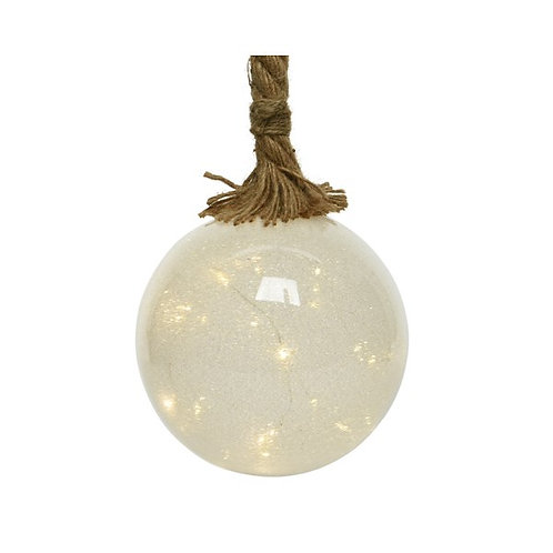 Ice Ball on Rope with LED lights