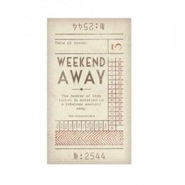 East of India Ticket No.3 - Weekend Away