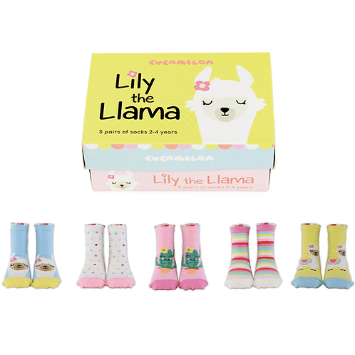 Cucamelon Lily the Llama Baby Socks