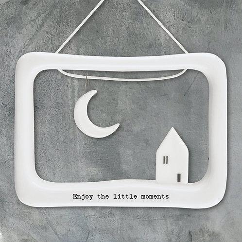 East of India Porcelain Open Frame - Enjoy the little moments