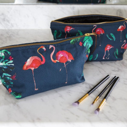 Katie Cardew Flamingo Cosmetic Bag