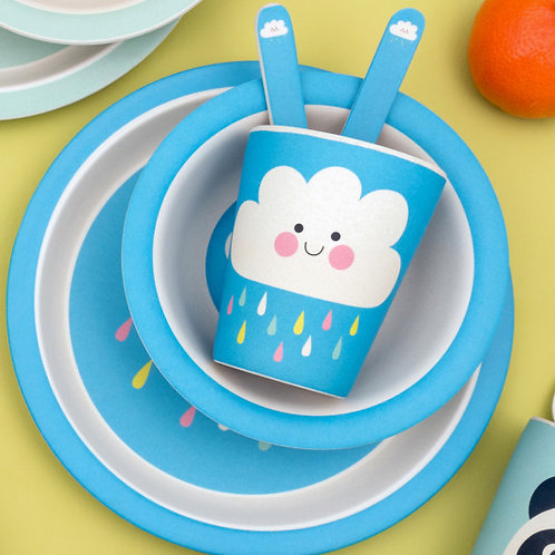 Happy Cloud Bamboo Dining Set