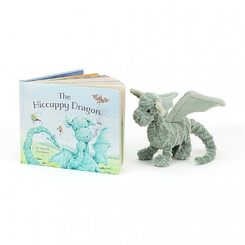 Jellycat The Hiccupy Dragon Book Set