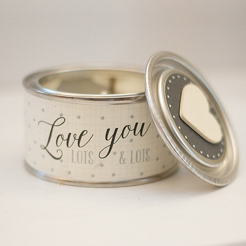 Love you lots... Tinned Candle