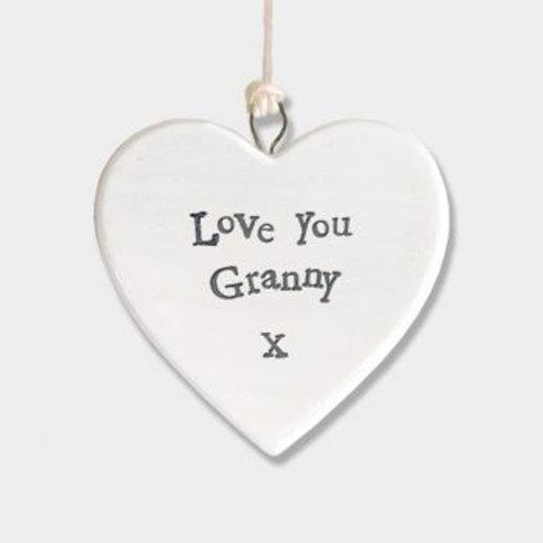 Love Granny Small Hanging Heart