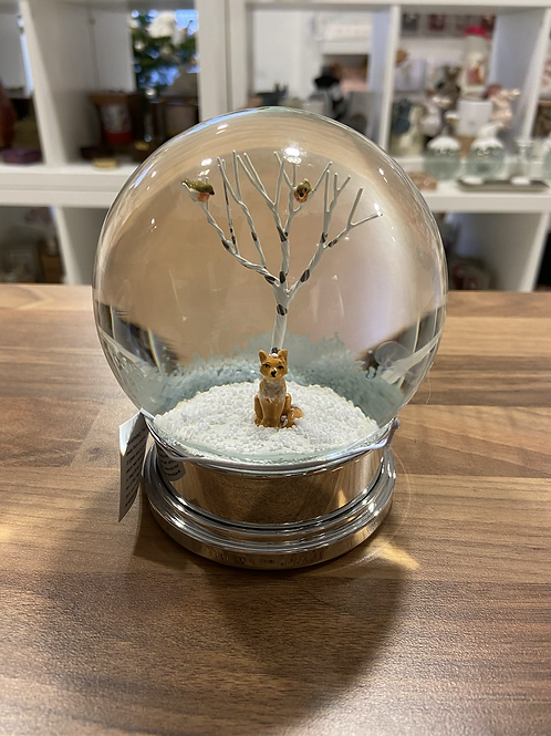 Snow Globe with Fox and Birds