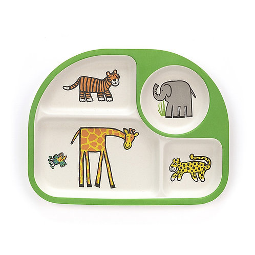 Jellycat Jungly Tails Divided Bamboo Plate
