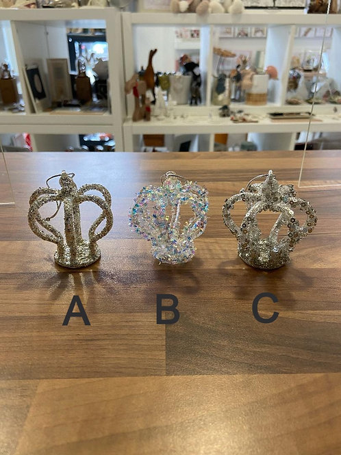 Glitter Covered Crown Hangers - Various Designs