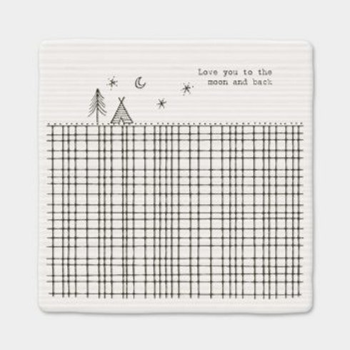 Love you to the moon and back Square Coaster