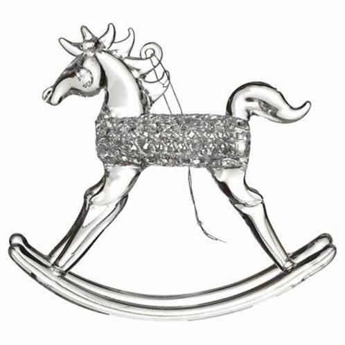 Glass Rocking Horse Decoration