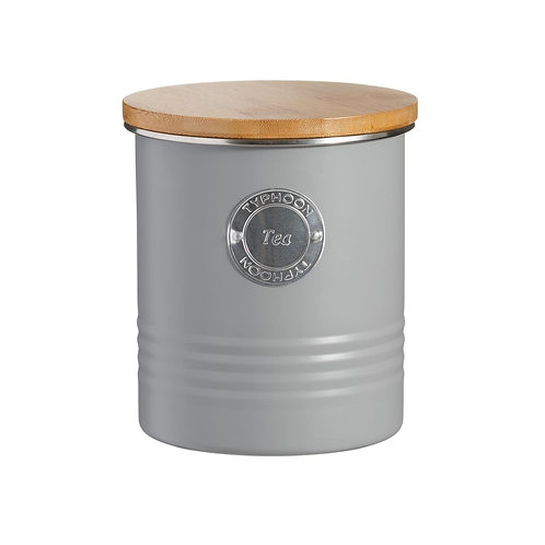Living Grey Tea Canister