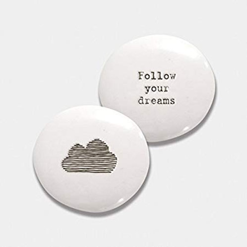East of India Follow your dreams Porcelain Pebble