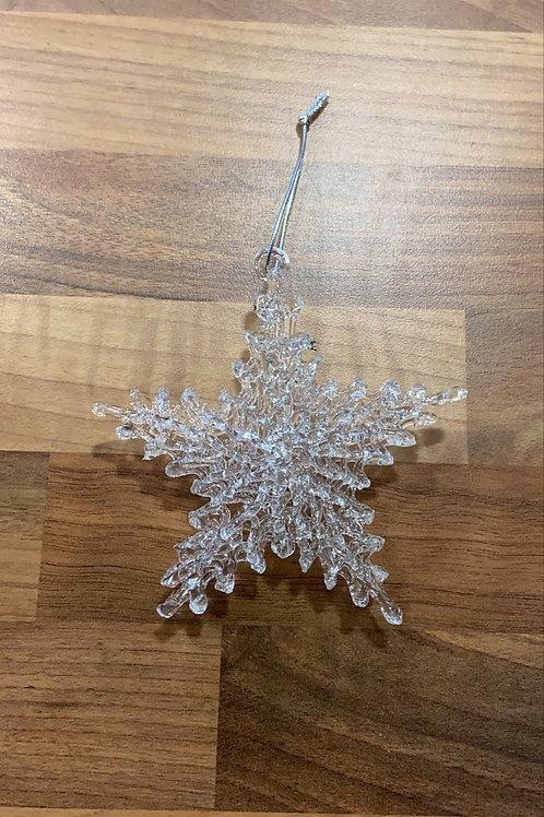 Set of 2 Hanging Snowflake Decorarions