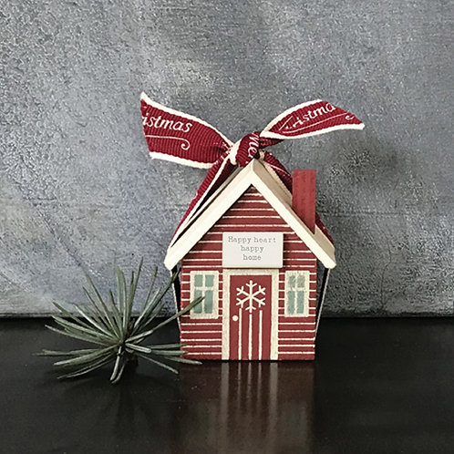 East of India Small wood house box - Happy heart happy home