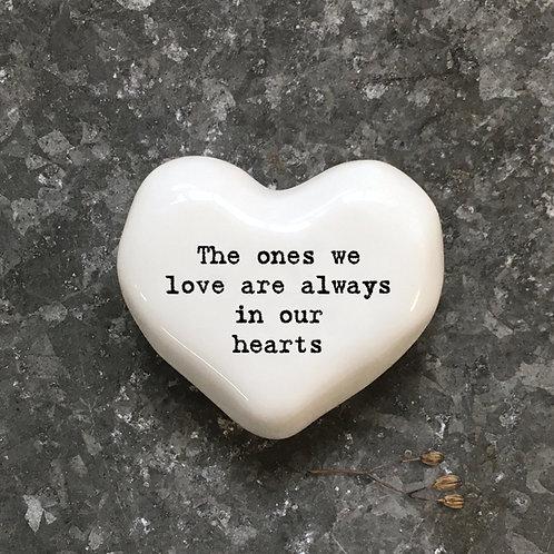 East of India White Heart Token - Ones we love