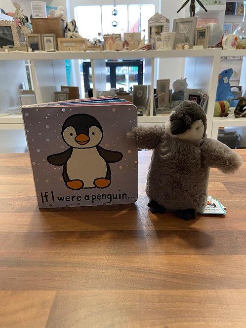 Jellycat If I were a Penguin Book Set