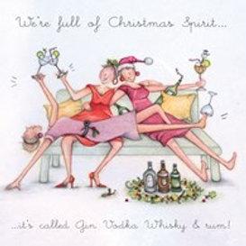 Berni Parker We're full of Christmas Spirit Card
