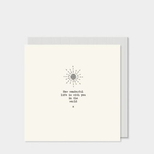 How wonderful life is... East of India Card