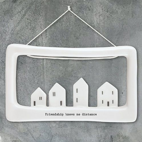East of India Porcelain Open Frame - Friendship knows no distance