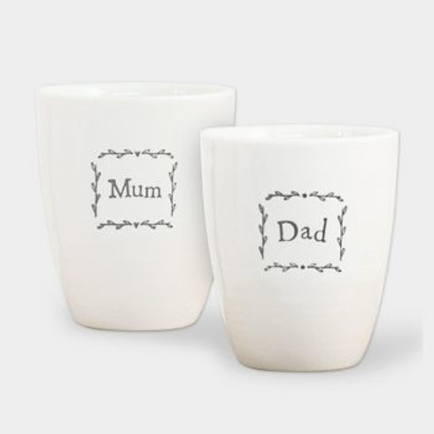 East of India Mum and Dad Egg Cup Set