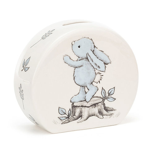 Jellycat Bashful Blue Bunny Moneybox